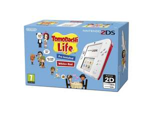 "Nintendo™ - Konsole ""2DS"" (Weiß/Rot) inkl.Tomodachi Life (vorinstalliert) für €83,90 [@Amazon.co.uk]"