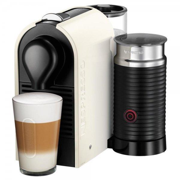Krups XN 2601 Umilk Pure Cream, Nespresso-Maschine, weiß/schwarz inkl. Tassenset @Ebay 129€