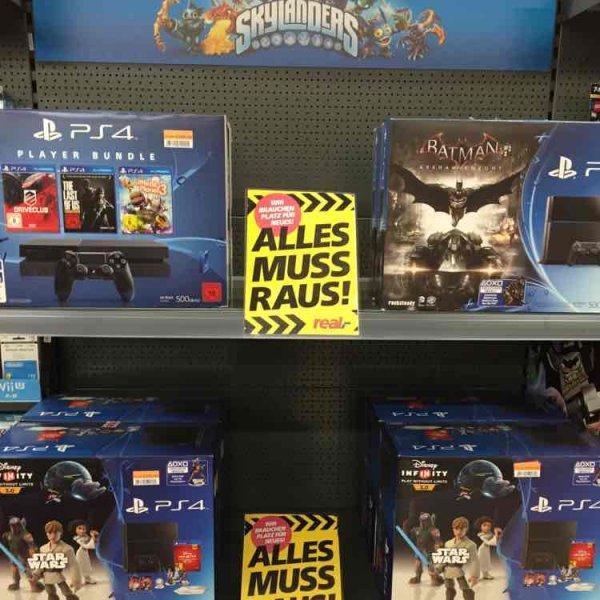 (real,- Heinsberg) PlayStation 4 500GB schwarz inkl Disney Infinity 3.0