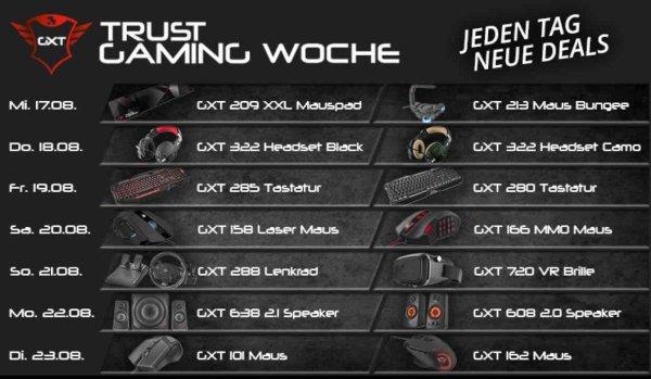 [Notebooksbilliger] Trust Gaming Woche – Heute GXT 322 Gaming Headset für 28,88€ inkl. Versand