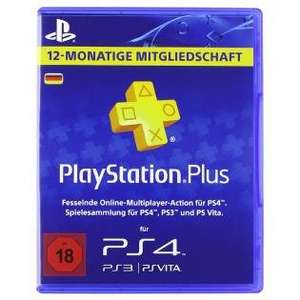 Playstation Plus 12 Monate für 39,62€ [CDKeys]