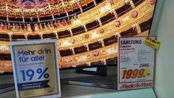 Samsung 19 % Mehrwertsteuer Rückerstattung auf alle SUHD Modelle im Media Markt Köln Kalk
