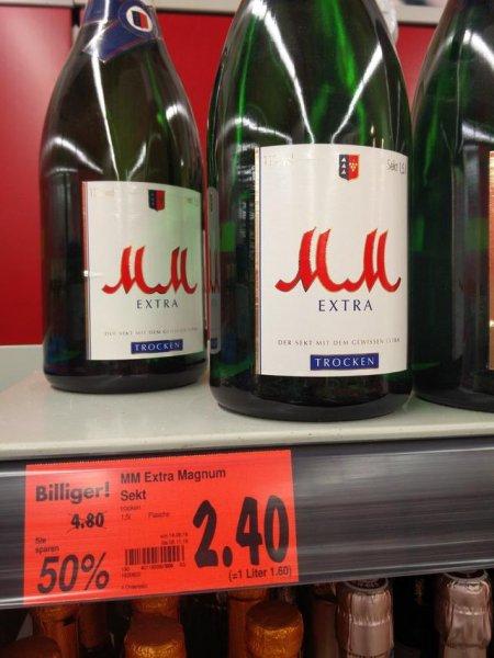 [lokal] Kaufland Freising: 1,5L Magnum Flasche MM Extra (trocken) für 2,40 € (1,60€ / Liter)