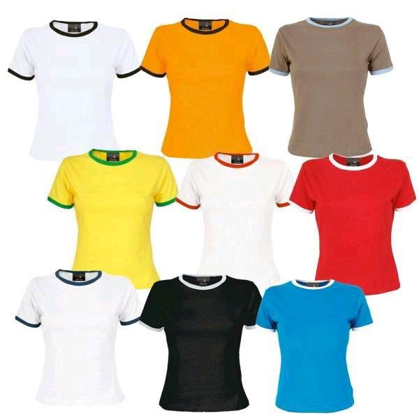 (Sim-Buy) JTx27s Ladies Slim Contrast T-Shirt für € 1,00 in verschiedenen Farben und Größen