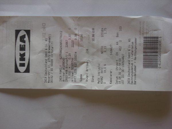 Blumentopf mit Untersetzer Ingefära bei IKEA Bremerhaven nur 0,29 Eur
