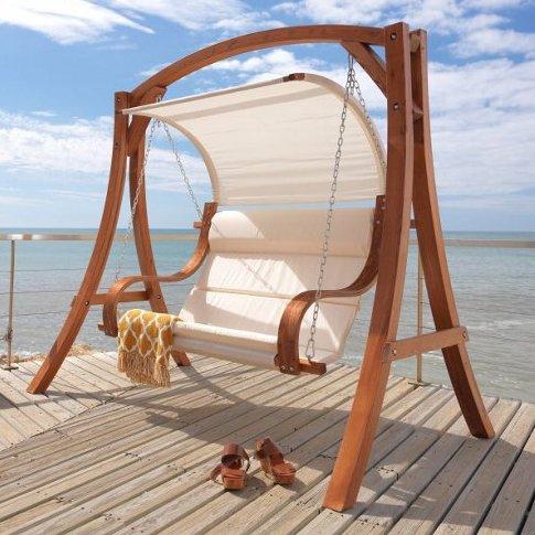 [MÖMAX] Nur Online: Leco Ronda 2er Hollywoodschaukel mit Sonnendach und Sitzpolster (bis 200kg) für 185€ inkl. Versand (PVG:379€+)