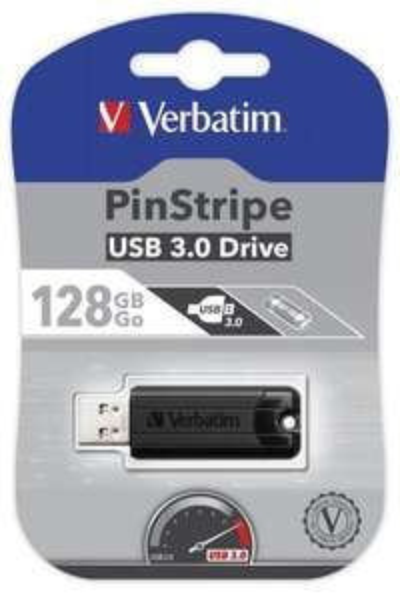 [7dayshop.com] Verbatim PinStripe USB 3.0 Flash Drive Memory Stick - 128GB