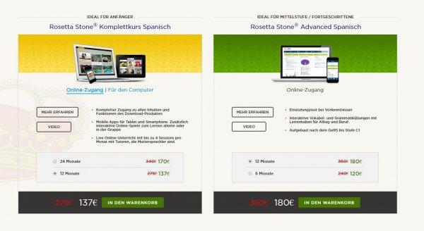 50% Rabatt bei Rosetta Stone - Sprachen Lernen am PC / Tablet / Smartphone