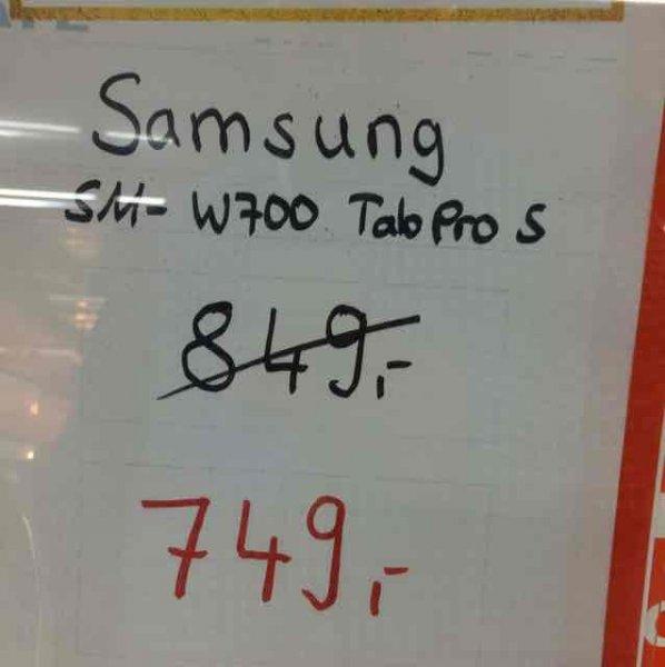 (Saturn Leverkusen) Samsung Tab Pro S für 599 Euro (Cashback Direktabzug an der Kasse)