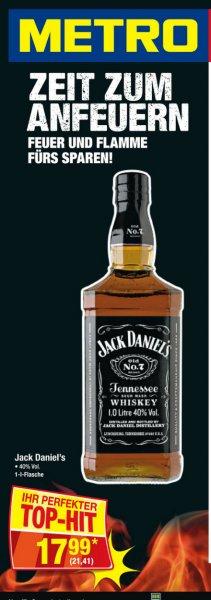 Jack Daniels Black Label Old No.7 1l 40% in der Metro für 21,41€ Brutto 18.08 - 24.08.16