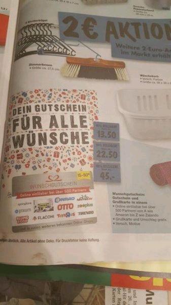 10% Rabatt auf Gutscheine bei Kaufland. und 8th of  einlösbar in 500 online shops auch Amazon!