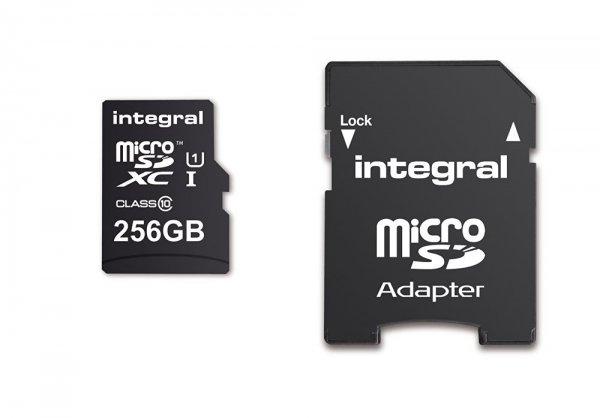 Integral 256GB microSDXC Class 10 / U1 für 23,49€ [Vorbestellung] [Amazon]