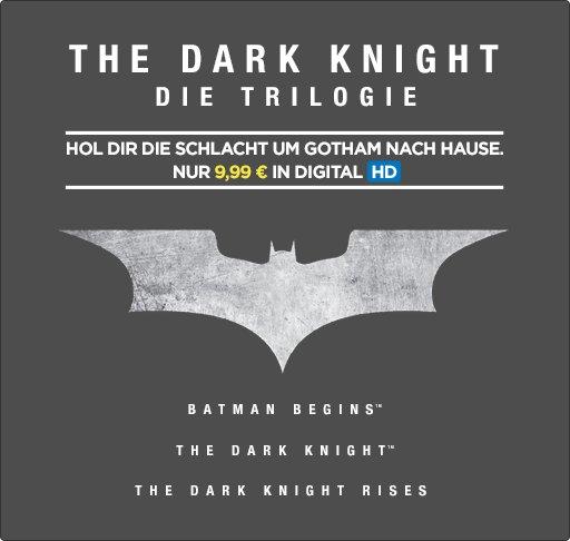 The Dark Knight Trilogie in HD für 9,99€ (kaufen) [Wuaki]