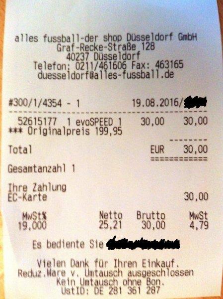 [lokal: Düsseldorf-Mörsenbroich] - PUMA-Fußballschuhe für 30 Euro (statt UVP: 199,95 Euro)