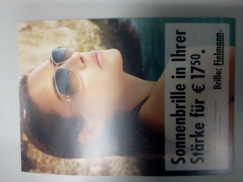 """Sonnenbrillen mit Einstärkengläsern mit """"Nulltariffassung"""" für 17,50 €"""