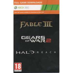 Halo Reach + Gears Of War 2 + Fable 3 (Download Full Game Code) bei 365Games.co.uk