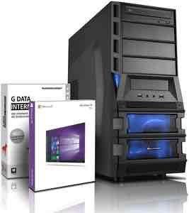 Komplett-PC Quad Core A8-7600 4x 3.8 GHz / 8192 MB DDR3 / 1000 GB S-ATA II / 4 GB Hypermemory Radeon R7 / 22x DVD±RW / Win10 Prof. 64-Bit