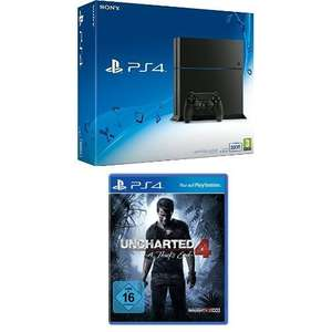 Sony PS4 500GB CUH-1216A + Uncharted 4: A Thiefs End für 269,97€ [Amazon]