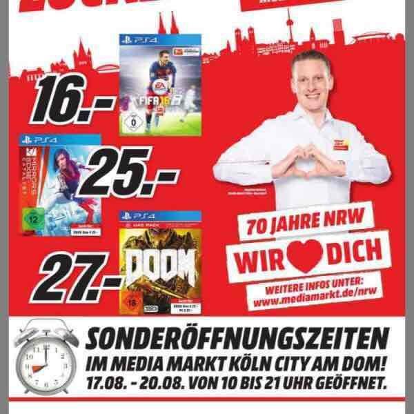 [Lokal] Media Märkte in Köln Gaming Angebote u.a. GTA V 27 EUR