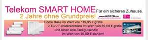 Telekom Smart Home effektiv kostenlos plus 30 Euro Tankgutschein