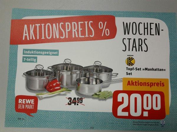 """*Regional* Rewe-Center Hessen (Marktliste in Beschreibung): Topf-Set """"Manhatten"""" 7tlg. nur 20,00 EUR"""