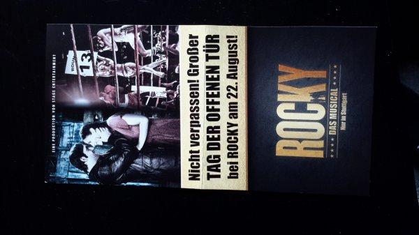 [Stuttgart] Rocky - Das Musical Tag der offenen Tür
