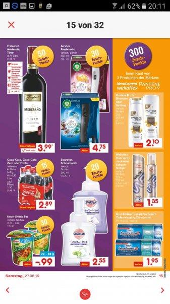 Netto MD 300 extra Punkte (Deutschlandcard) bei Kauf von 3 Produkte (Pantene Pro V, Bend a med, Wellaflex)