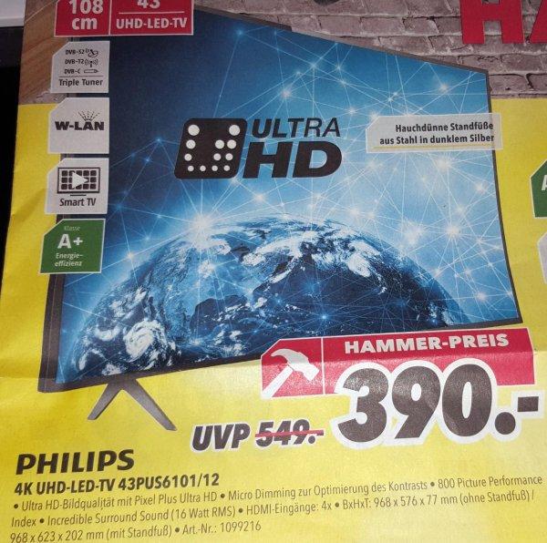 """[MEDIMAX HESSEN/NRW] Philips 43"""" 4K UHD LED-TV 43PUS6101/12 für 390€"""