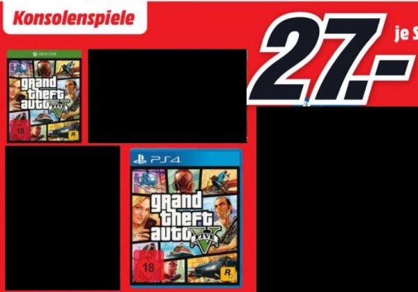 [Lokal Mediamarkt Berlin-Alexa] GTA 5 für PS4 und XB1 für je 27,-€