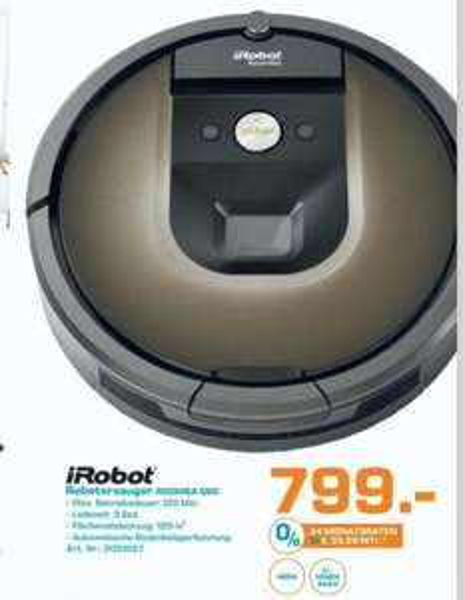 [Saturn Bremen] irobot roomba 980