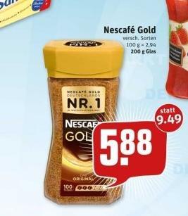 Nescafe Gold 200G REWE BUNDESWEIT!