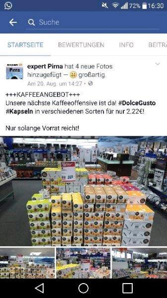[Expert Pirna/Freital] Dolce Gusto Kapseln 2,22 €!!! Solange der Vorrat reicht!!!