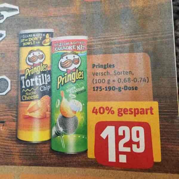 [REWE] Pringles alle verfügbaren Sorten 1,29€ als Hauptspeise - Ehrmann Almighurt als Dessert für 0,29€ - danach aufs Gästeklo