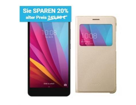 Honor 5X LTE + Dual-SIM (5,5 FHD IPS, Snapdragon 616 Octacore, 2GB RAM, 16GB intern, 13MP + 5MP mit Dual-Blitz, Metallgehäuse, Fingerabdrucksensor, kein Hybrid-Slot, 3000 mAh, Android 6) + Flip Case für 179,99€ [Vmall]