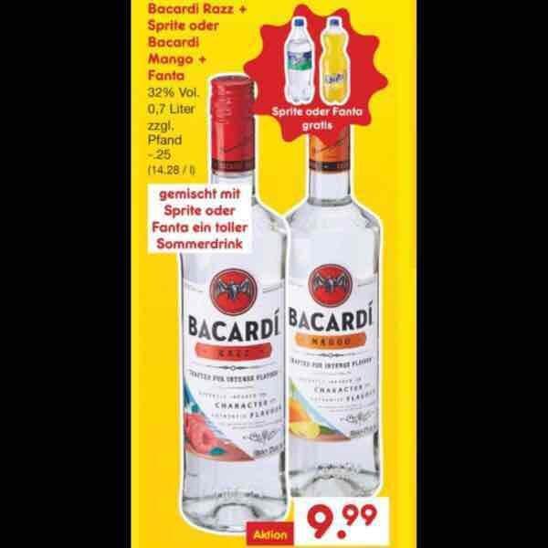 Bacardi razz + Sprite oder Bacardi Mango + Fanta