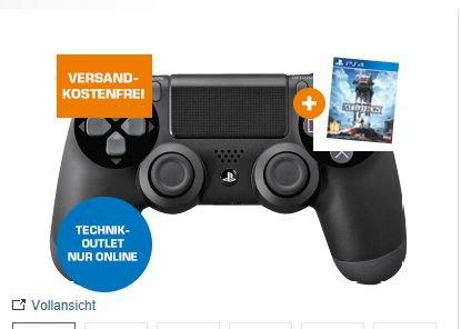 [Saturn Österreich] SONY PS4 DualShock 4 Wireless Controller schwarz + Star Wars Battlefront (PS4) ab 53,-€ inc. Versand und Senseo Pads *Füllartikel*