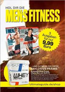Bodylab24 Whey Protein für 11,49 € durch 3 Monate Men's Fitness Probeabo