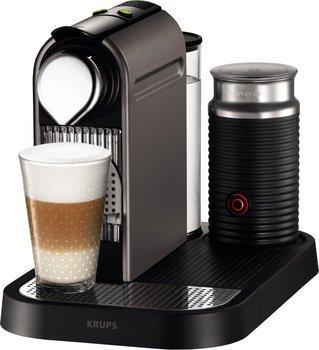 Krups XN 730T Kapselmaschine Nespresso New CitiZ&milk (1 L Wasserbehälter, mit Aeroccino3) titanium für 115,99 € (zudem 100 Kapseln for free) @ amazon