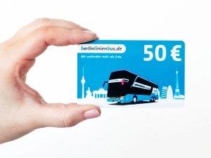 BerlinLinienbus 50 % Rabatt auf 50 & 100 Euro Gutscheine