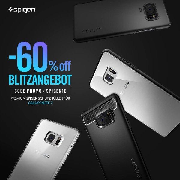 (Amazon) Samsung Galaxy Note 7 Hüllen - 60% reduziert - gültig bis 24.08.2016