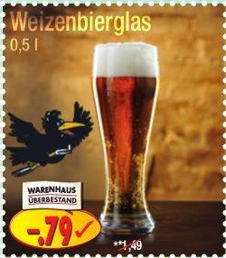 0,5l Weizenbierglas für 0,79€ @PicksRaus