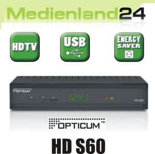 Opticum HD S60 digitaler HDTV Sat Receiver USB Multimedia HDMI TV DVB-S2    @Ebay WOW
