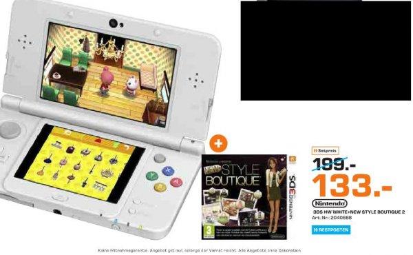 [Lokal Saturn Bochum] Nintendo New 3DS weiß + New Style Boutique 2: Mode von Morgen für 133,-€
