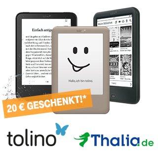 """[Thalia on-/offline] eBook-Reader """"Tolino Page"""" 49€ / """"Tolino Shine 2 HD"""" 99€ / """"Tolino Vision 3 HD"""" für 139€ für Telekom-Kunden"""