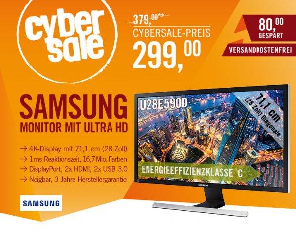 """(Cyberport) CyberSale Samsung U28E590D 28"""" (71,12 cm) UHD Monitor 3840 x 2160 HDMI/DP 1ms (17% unter Idealo)"""
