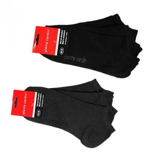 6 Paar Pierre Cardin Sneaker Socken Schwarz oder Anthrazit Gr.39-42 o. 43-46 für 4,95€
