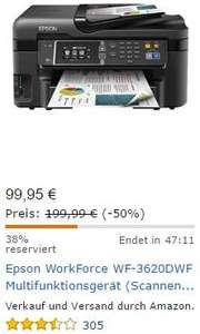 Epson WorkForce WF-3620DWF 4-in-1 Multifunktionsdrucker - Amazon Blitzangebote bis 17 Uhr