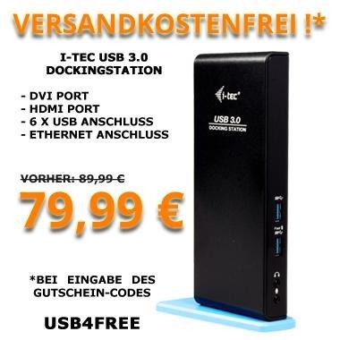 i-Tec USB 3.0 Dockingstation für 79,99€ bei Click4Deals.de Online-Shop, Ohne Versandkosten!