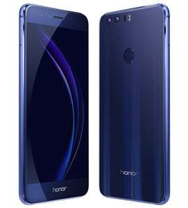 Honor 8 Smartphone [5,2 FHD IPS, Dual-SIM, LTE, Kirin 950, 32GB, Glass-Back, Dual-Lens Camera, NFC; USB-C]