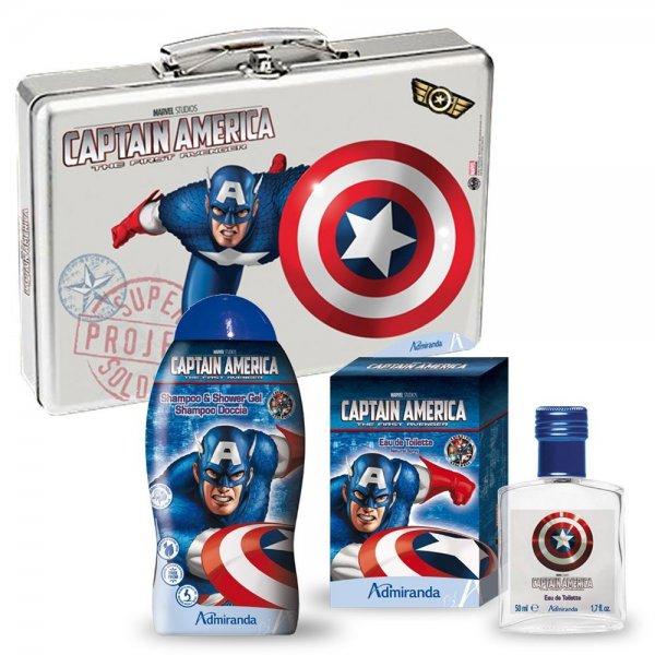 Captain America Luxus Badeset (Alukoffer + 300ml Shampoo / Duschgel + 50ml Eau de Toilette) für 20,02€ [Amazon.es]